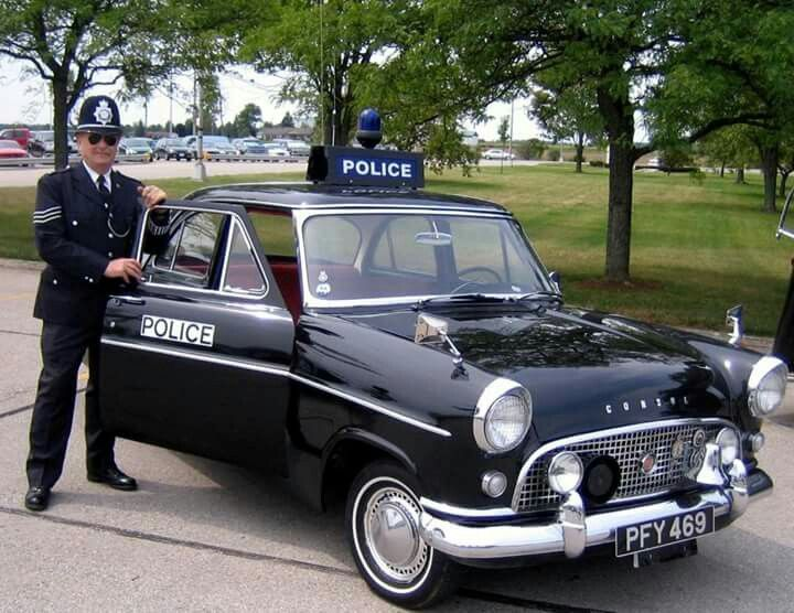 Ford Consul 375 British Police Cars Police Cars Old Police Cars