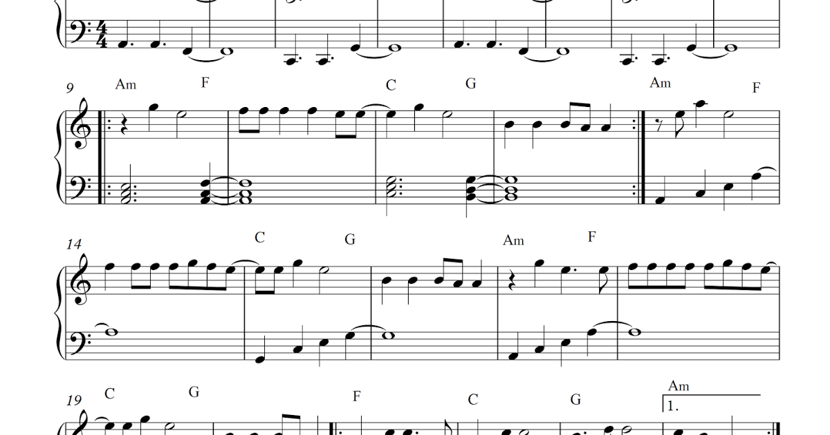 Free piano sheet music: The Greatest-Sia.pdf But the strong will ...