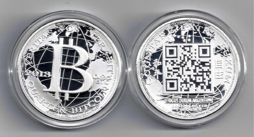 Silver Bitcoin Specie: Scan the QR to see their current