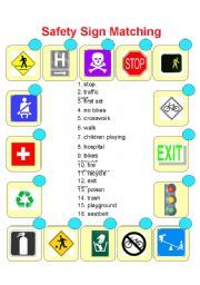 Safety Signs & Symbols Bulletin Board Set | T-735