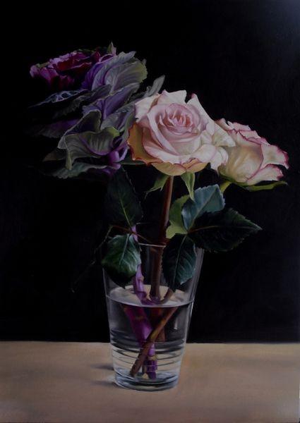 UK Artist Helen Masacz - Roses & Cabbage