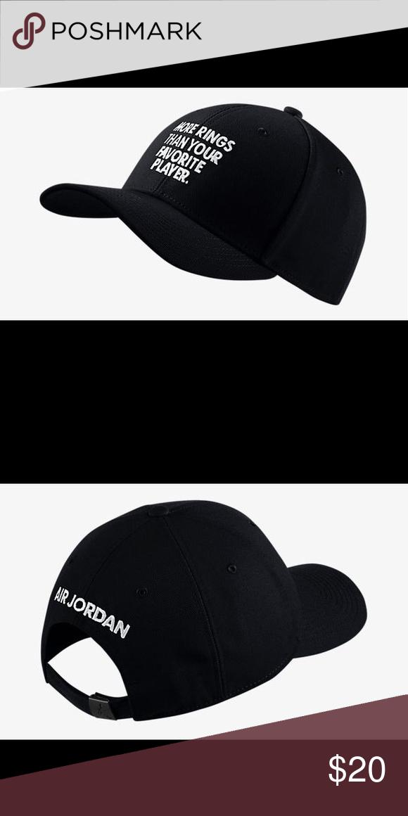 Nike Air Jordan Hat Great Fit Cap That Says More Rings Than Your Favorite Player Accessories Hats