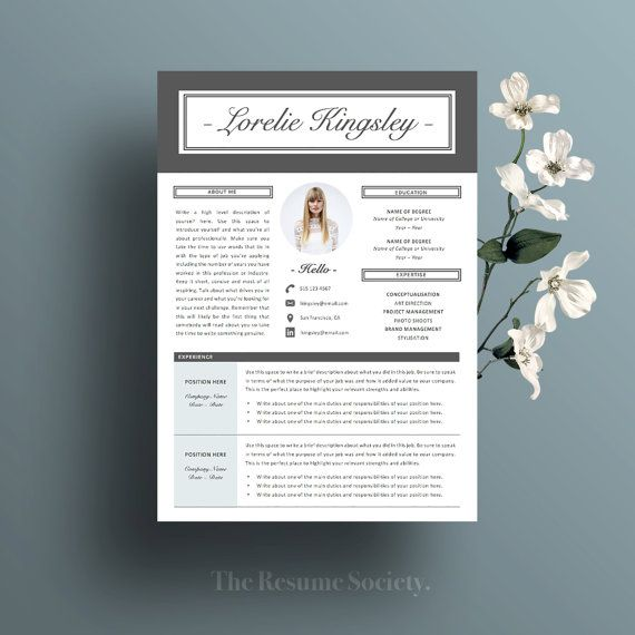 Resume Template - 4 Pg - CV - Cover Letter - References - 20 Icons