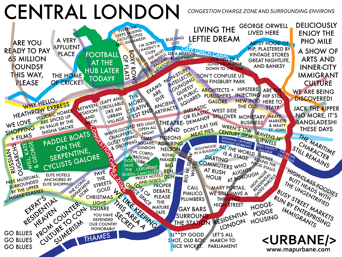 Central London Districts Map.London Mapping The Uk Capital For Shitz N Giiglez Central