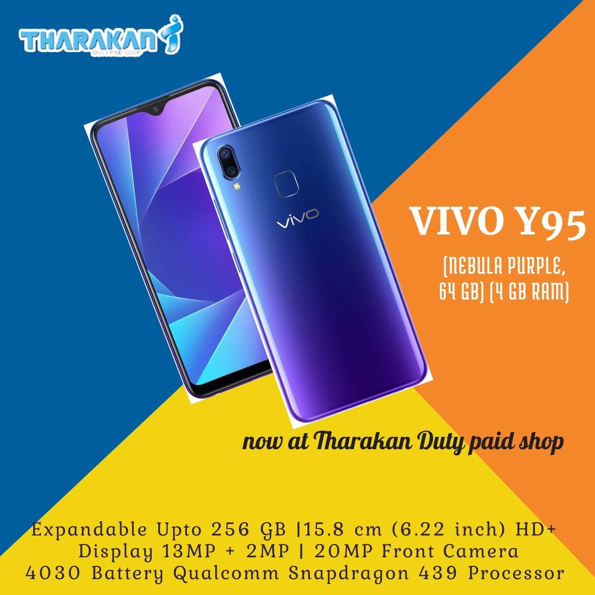 Mob:9048168319 Vivo Y95 (Nebula Purple, 64 GB) (4 GB RAM