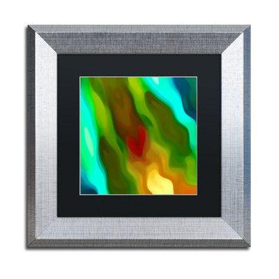 "Trademark Art 'River Runs Through Square 2' by Amy Vangsgard Framed Graphic Art Size: 11"" H x 11"" W x 0.5"" D"