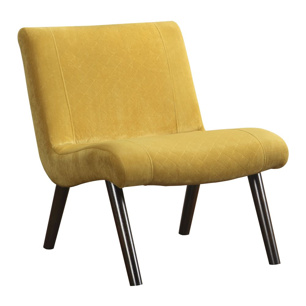 Quilted Mustard Upholstery Armless Chair Overstock Com