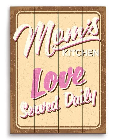 Look what I found on #zulily! \u0027Mom\u0027s Kitchen\u0027 Wood Wall Art