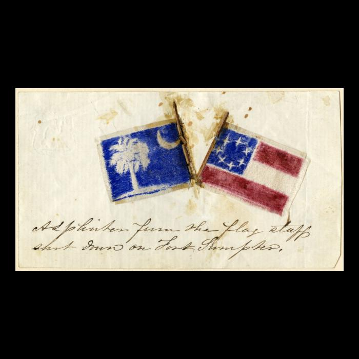 Splinters From Fort Sumter Flag Staff The Lincoln Financial Foundation Collection Sumter Lincoln Financial Flag
