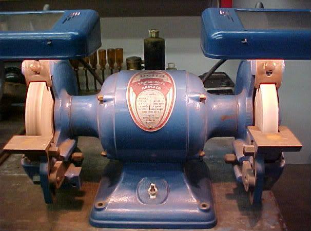 1945 vintage delta 7 quot bench grinder tools pinterest