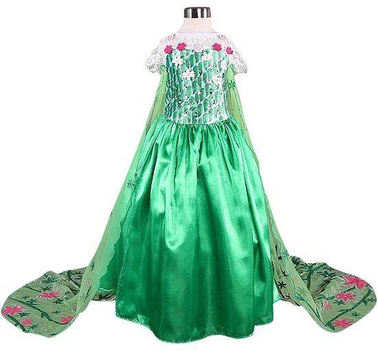 Anna jurk frozen groen