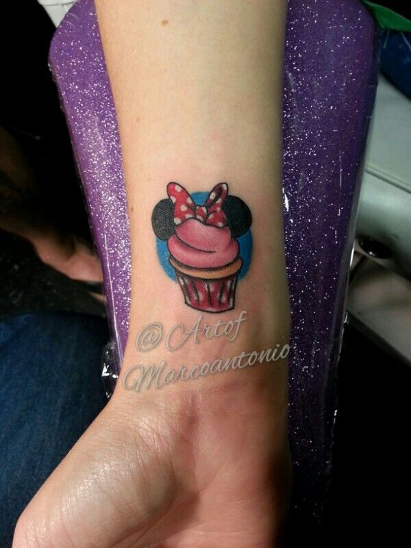 Minnie Mouse Disney Inspired Cupcake Tattoo Tattoos Pinterest