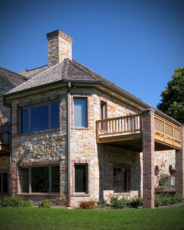 Modern Rustic Dream Home Exterior Stone Veneer Ranch Style