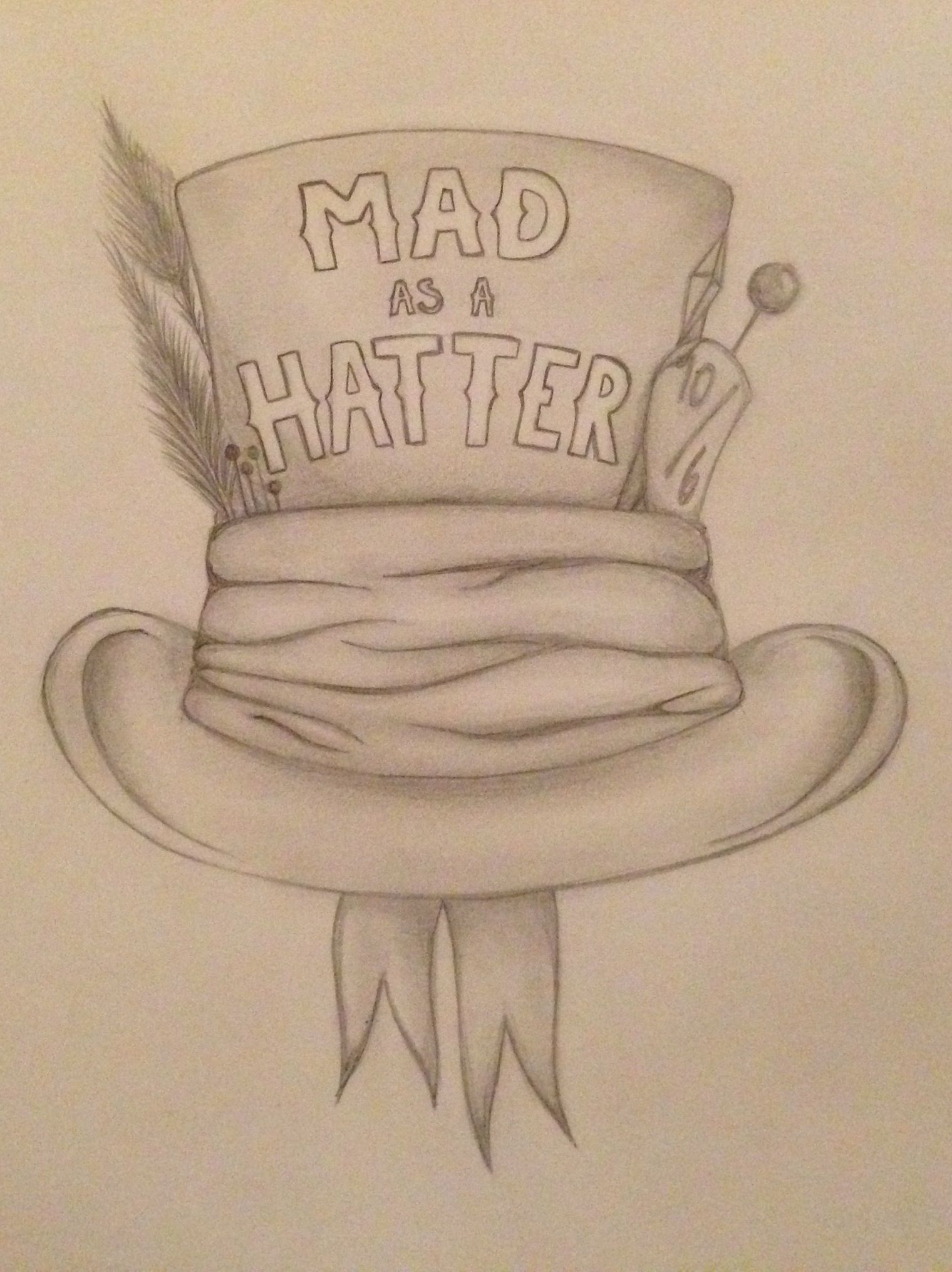 alice in wonderland mad hatter hat drawing wwwpixshark