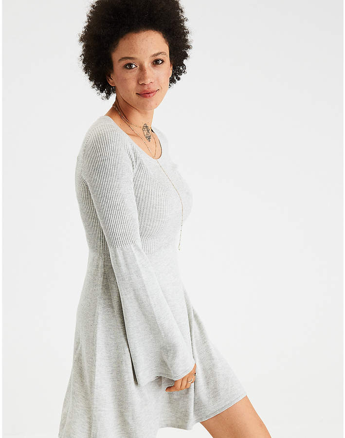 c133c3f233d ~CLICK TO BUY~Aeo AE Ahh-Mazingly Soft Bell-Sleeve Sweater Dress  dress   buyable  women  fashion