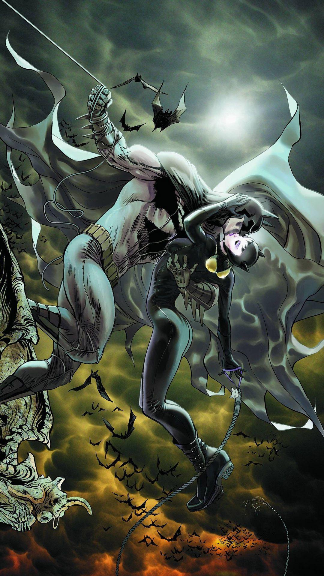 Batman And Catwoman Mobile Wallpaper 7124 The Bat Pinterest