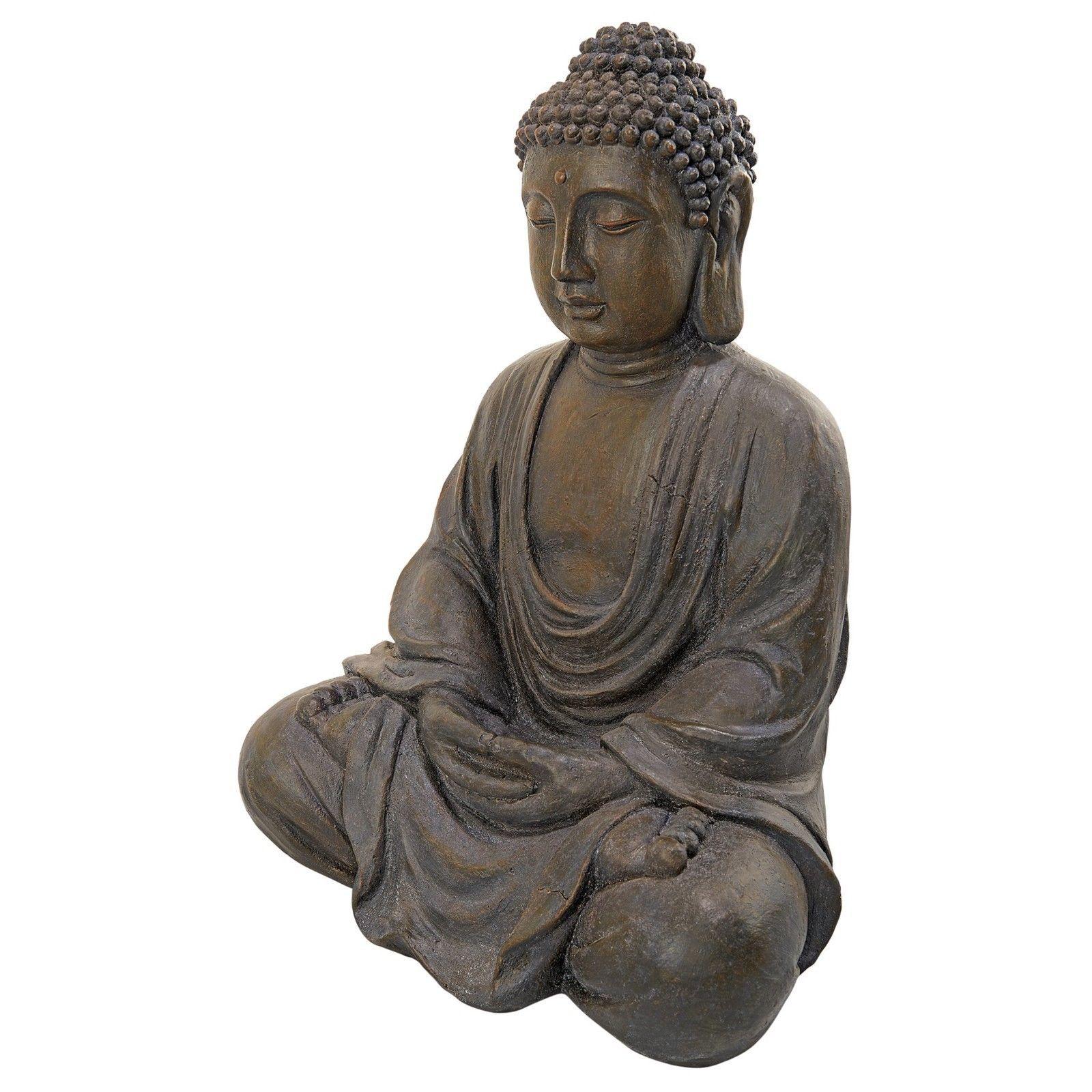 Garden decor statues  Large Buddha Statue Zen Garden Decor Outdoor Spiritual Sitting