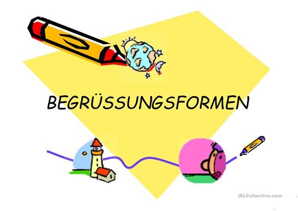Begrüßung Deutsch