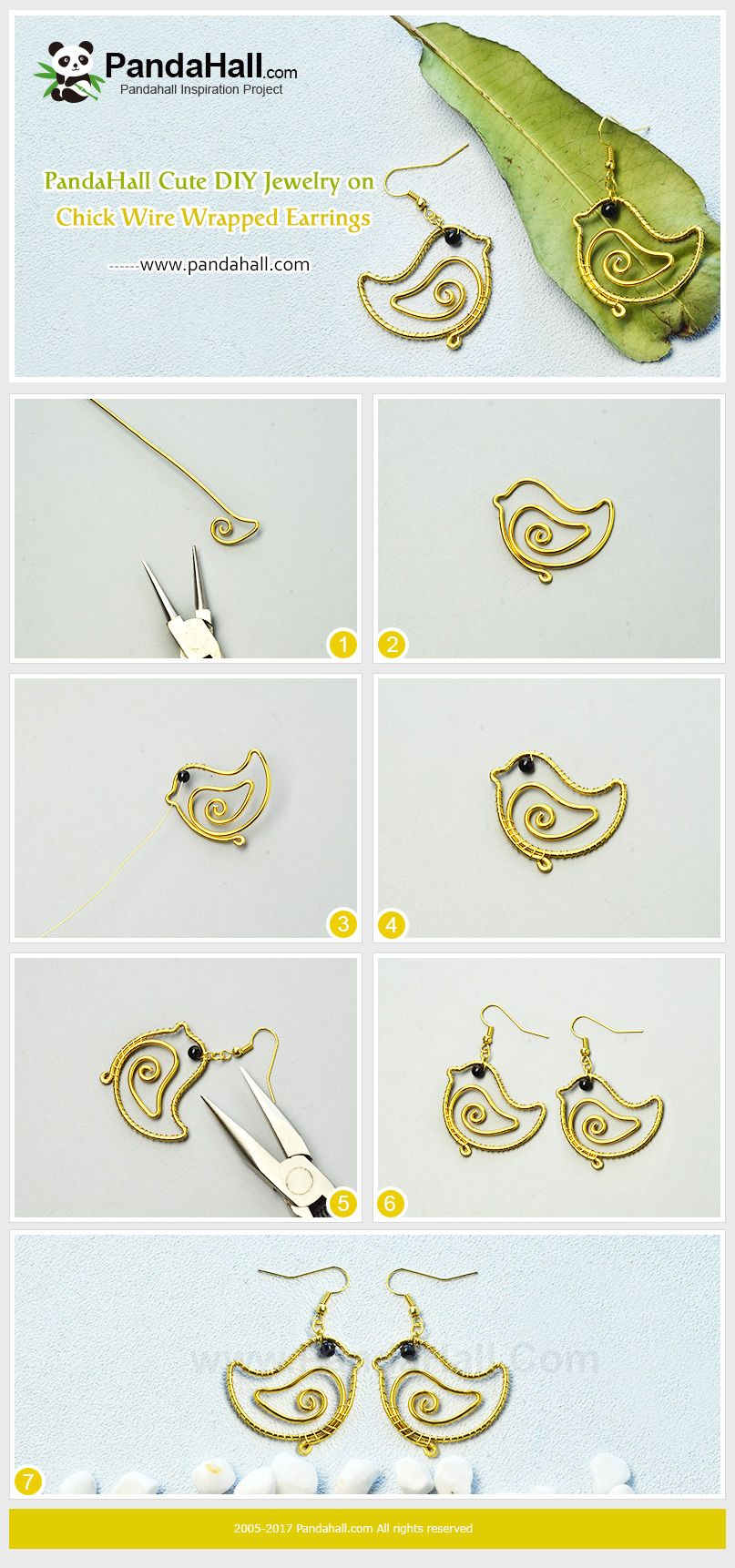 Cute Chick Wire Wrapped Earrings As Easter is approaching, do you ...