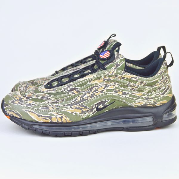 2017 Nike Air Max 97 Camo USA QS size 10.5 Olive Black