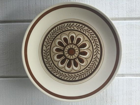 oversized stoneware dinner plate vintage monterey royal brown and white dishes 1970s stoneware dishes - Stoneware Dishes