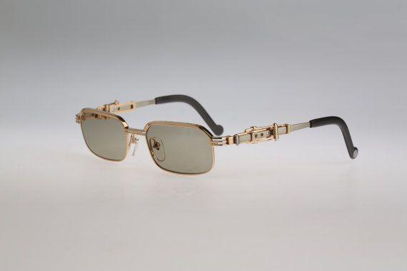 a3f02484c Jean Paul Gaultier 56-0002 Gold square steampunk by CarettaVintage ...