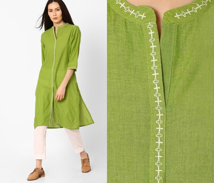 10 Must Try Neck Designs For Kurtis With Collar Keep Me Stylish Kurti Neck Designs Plain Kurti Designs Dress Neck Designs