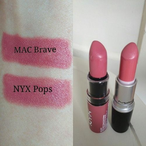 A great dupe for MAC Cosmetics Brave is NYX Cosmetics Pops! @dupethat