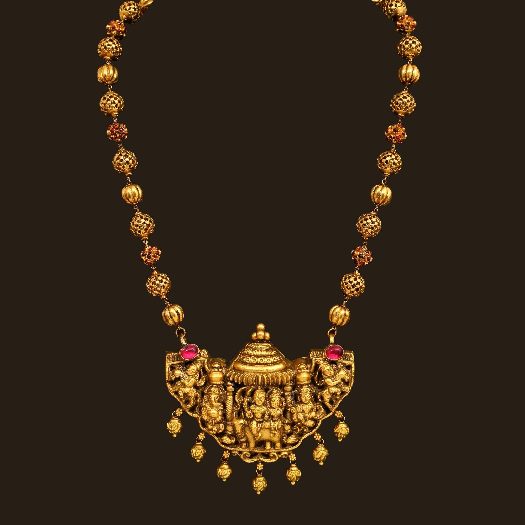 Gold Nagas Haram 110a14211 Vummidi Bangaru Jewellers