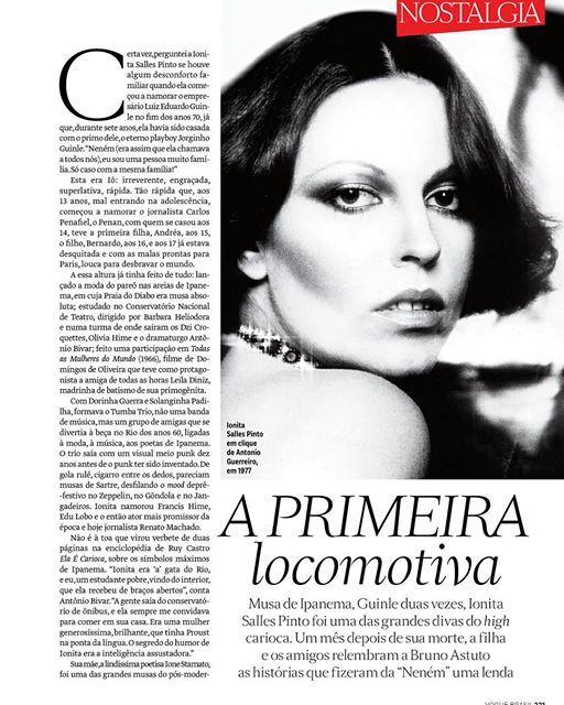 """Instagram media by brunoastuto - Relembrando a DIVA ETERNA Ionita Salles Pinto na @voguebrasil de dezembro - """"não faltam mais estrelas no céu""""f"""