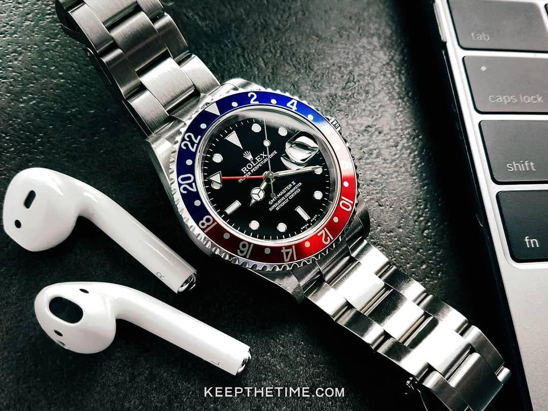 Rolex Gmt Master Ii Pepsi Bezel In 2020 Rolex Gmt Master Ii Beautiful Watches Rolex Gmt