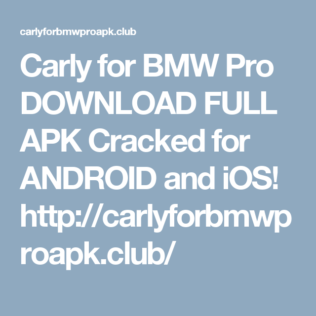 carly for bmw apk cracked download