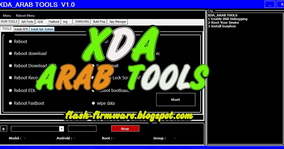 DownloadXDA Arab Tool Feature: Reboot Reboot Download Reboot