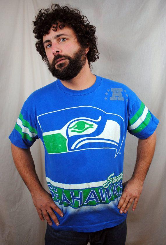 Vintage 90s Seattle Seahawks NFL Football Jersey Shirt.  28.00 eac4e044b