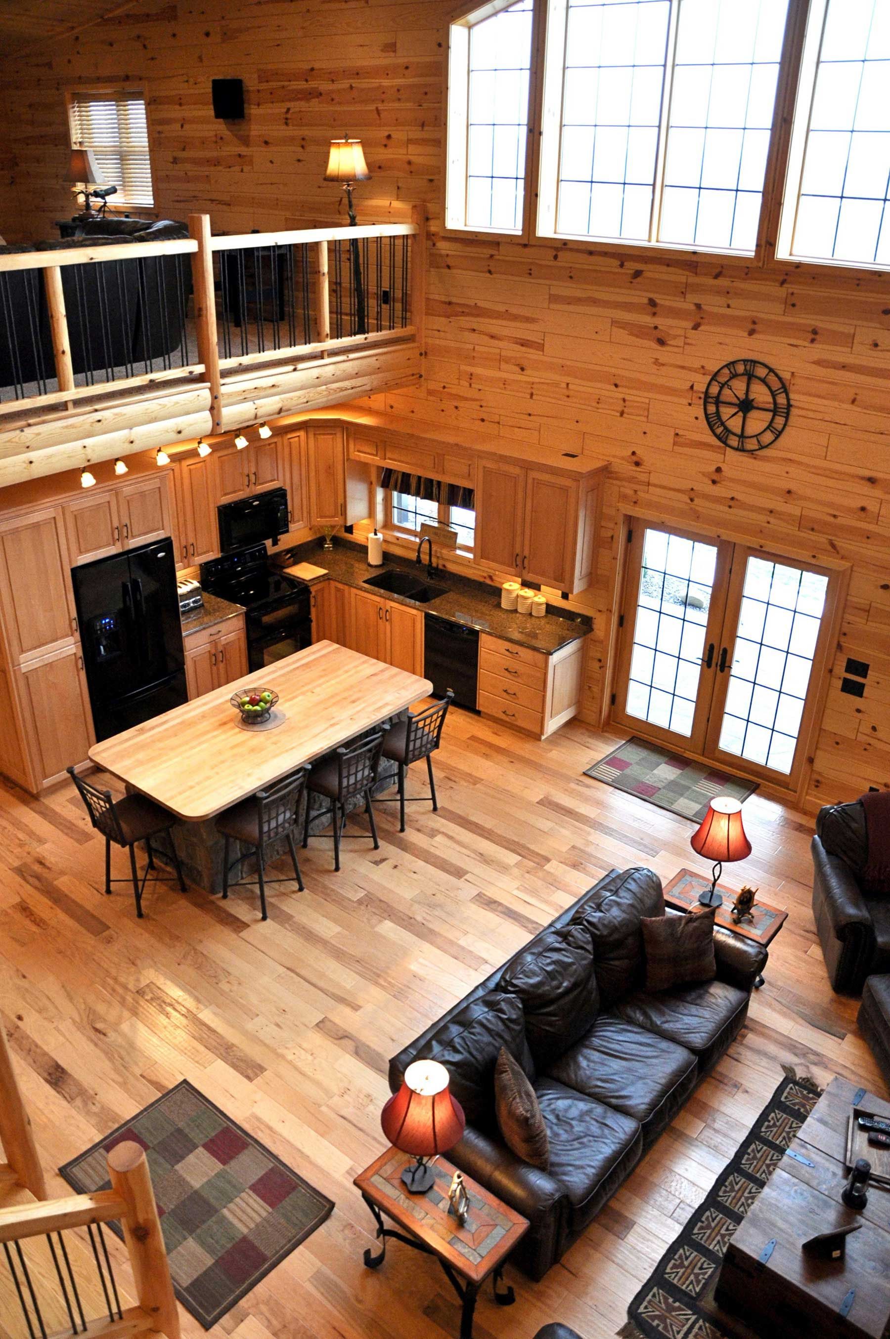 Wood Paneled Room Design: Log Home & Cabin Pictures