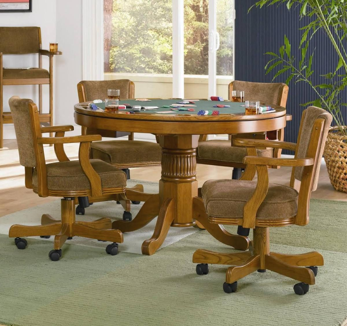 Pin this MITCHELL 3 IN 1 GAME TABLE IN OAK by Coaster in