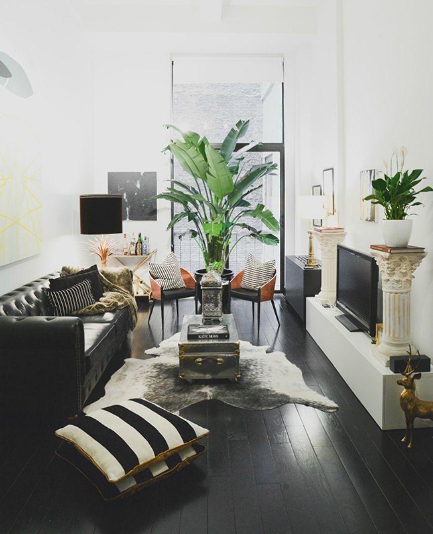 Living Room Inspiration Black Leather Sofa Living Room
