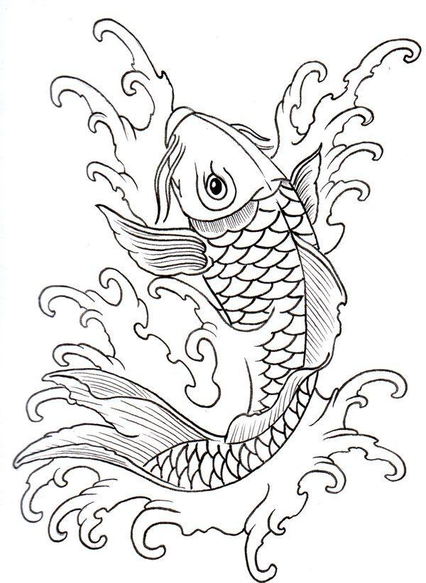 Pin de Christian Gaxiola en Pez Koi   Pinterest   Bordado, Dibujos y ...