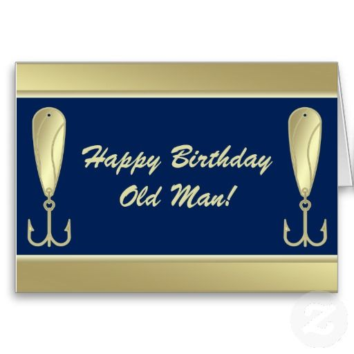 Funny Fishing Spoon Lure Angler Happy Birthday Greeting Cards Old Man Personalize This Unique Card For The On Your List