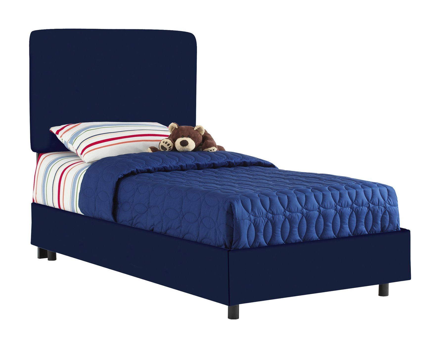 Best Aaron S Full Kids Bed By Skyline Furniture In Navy Cotton 400 x 300