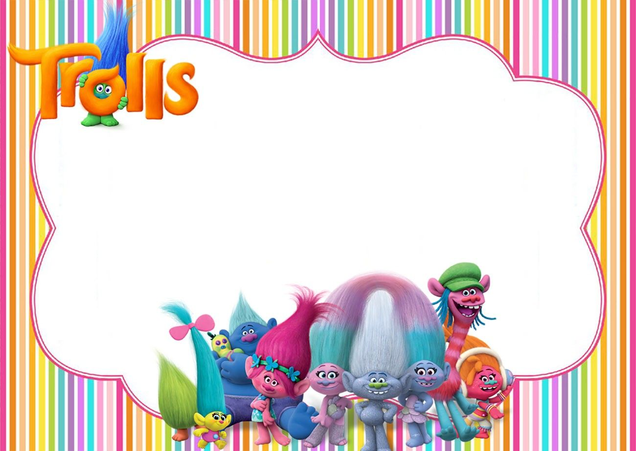 picture about Free Printable Trolls Invitations known as Pin upon tags