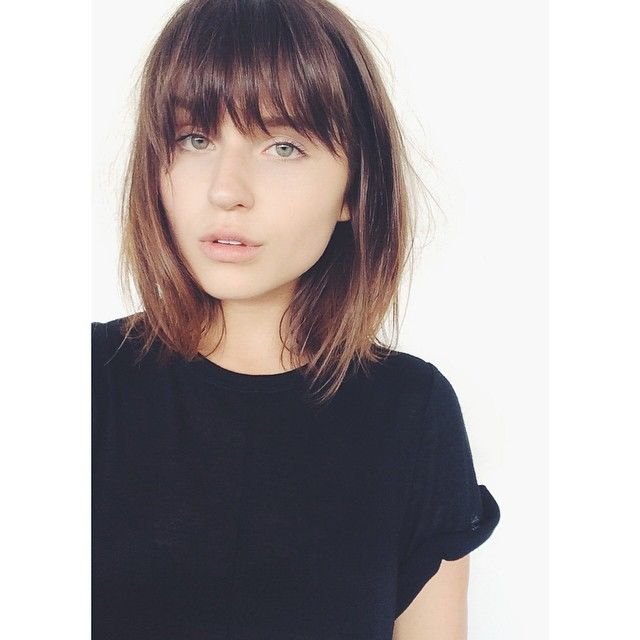 Rima Rama S Photo On Instagram Brown Bob With Soft Bangs