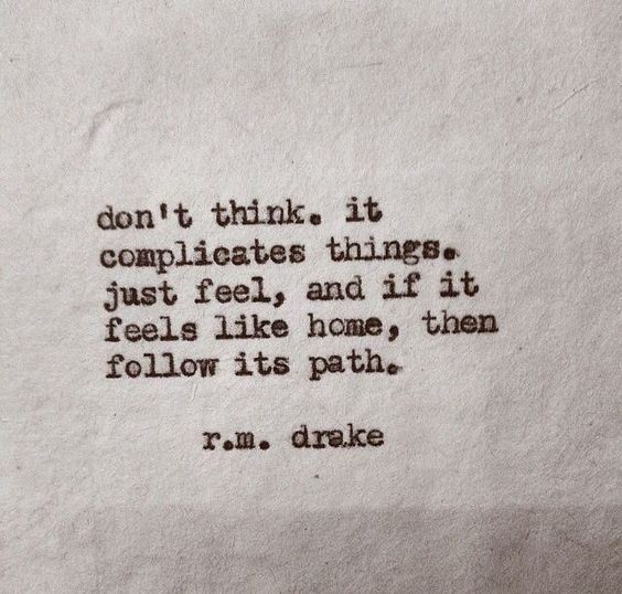 Follow your heart. Lass dich nicht von Erwartungen runterziehen.