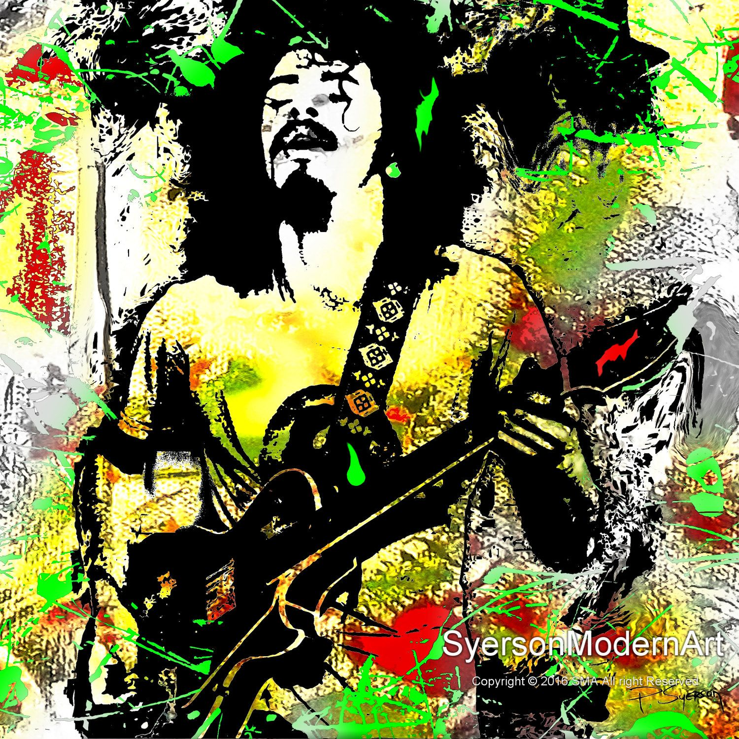 Carlos Santana Pop Art Portrait Modern Contemporary Giclee Canvas ...