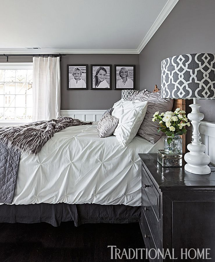 An Antique Bed Is Outfitted With Coverings From T Maxx Target And Z Gallerie In This Gray Bedroom Photo John Granen Design Kristi Spouse Like The