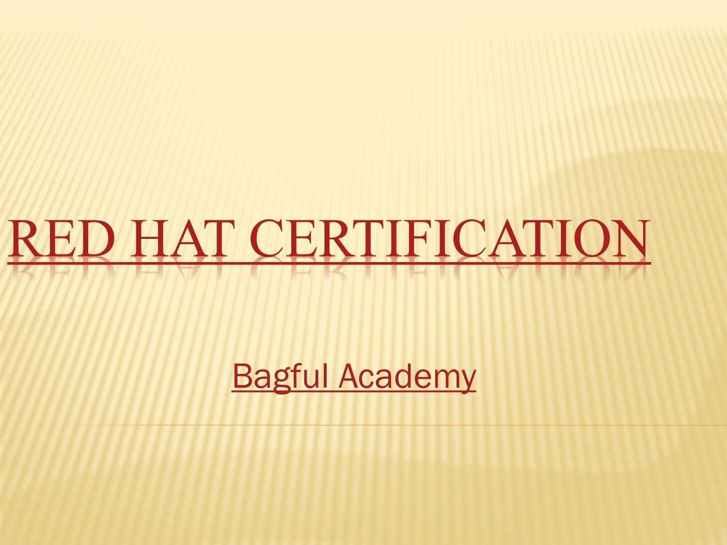 Red hat certification at bagful academy red hats red hat certification at bagful academy xflitez Images