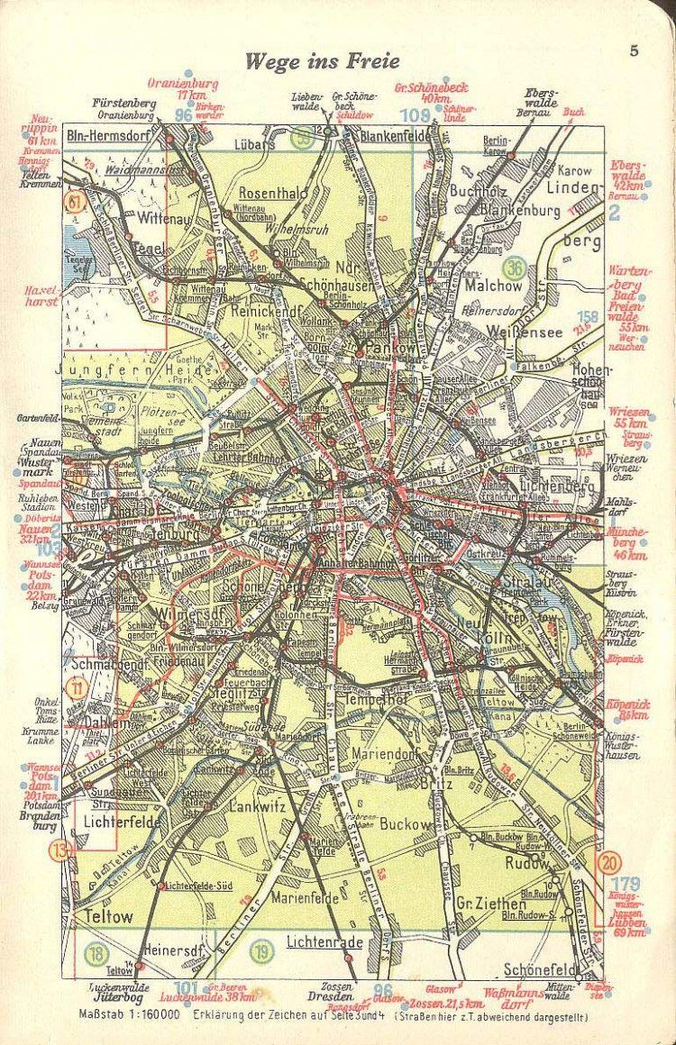 Vintage Infodesign Berlin Germany - Germany map 1940