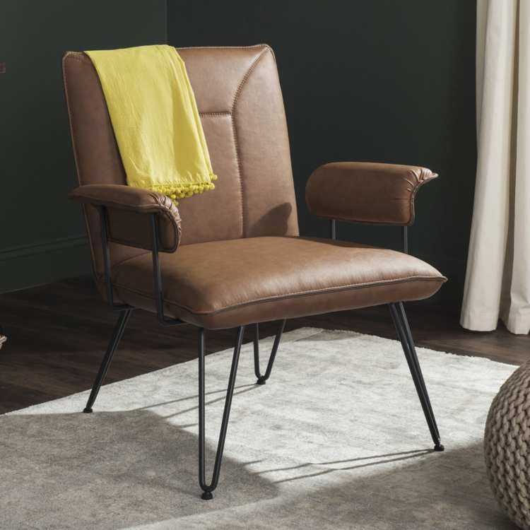 Accent Chairs At Walmart 2019 With Images Leather Armchair Modern Mid Century Leather Armchair Mid Century Modern Leather Arm Chair