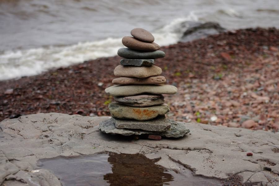 Cairn on Lake Superior