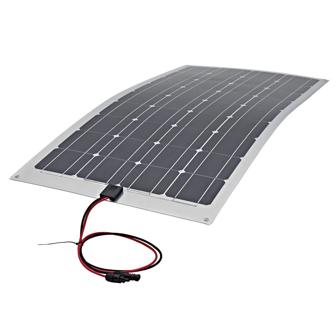 Biard 100W Watt Semi Flexible Solar Monocrystalline PV